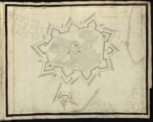 6. OLIVENZA. Proyecto de Nicolau de Langres,con anteriores trabajos de Cosmander. En su cerco murió Cosmander.